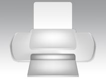 Modern printer and blank paper Royalty Free Stock Image
