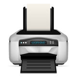Modern printer with blank paper up object isolated Royalty Free Stock Photos