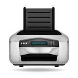 Modern printer electronic device object isolated Stock Images