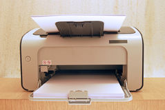 Modern Printer at Eye Level. With A4 Paper Feed Stock Photography