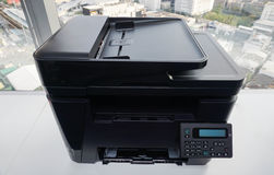 Modern printer in office Royalty Free Stock Photo