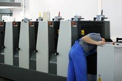 modern printing för hus Arkivfoton