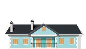 Modern privé huis, vector royalty-vrije illustratie