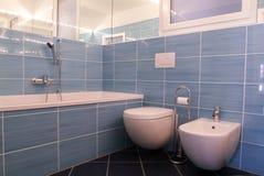 Modern private bathroom Stock Photo