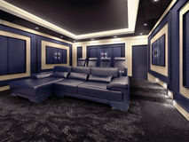 Modern private home cinema system Royalty Free Stock Image