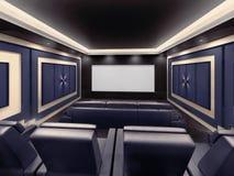 Modern private home cinema system Stock Photos