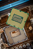 Modern processor and motherboard Stock Photo