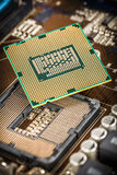Modern processor and motherboard Stock Photos