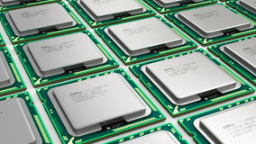 Modern processors stock video
