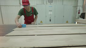 Modern Production Of Parquet stock footage