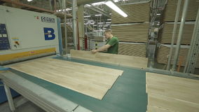 Modern Production Of Parquet stock video