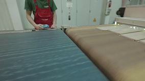 Modern Production Of Parquet stock video footage