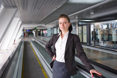 Modern professional businesswoman. Very cute modern professional businesswoman royalty free stock image