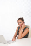 Modern professional businesswoman on the phone Stock Images
