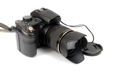 Modern professional camera SL Royalty Free Stock Photography