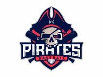 Modern professional emblem pirates for baseball team.  Royalty Free Stock Photo
