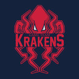 Modern professional logo for sport team. Kraken mascot. Octopus, vector symbol on a red background. Stock Photography