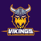 Modern professional logo for sport team. Viking mascot. Vikings, vector symbol on a dark background. Stock Photography