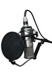 Modern professional microphone. On a white background Royalty Free Stock Photography