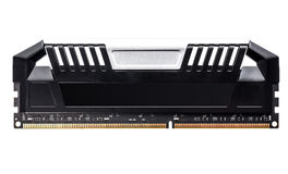 Modern Professional RAM memory module with black radiator heat s Stock Photography