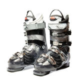 Modern professional ski boots Stock Photo