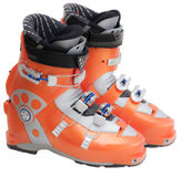 Modern professional ski boots Stock Images