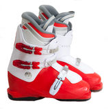 Modern professional ski boots Stock Photography