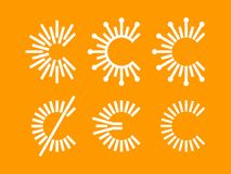Modern professional vector set currency icons in orange theme.  Royalty Free Illustration