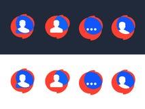 Modern professional vector set of various bubbles for speech stock illustration