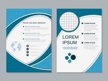 Modern professioneel bedrijfsvlieger vectormalplaatje Stock Afbeeldingen