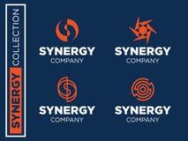 Modern professioneel vector vastgesteld emblemensynergisme voor zaken Royalty-vrije Stock Foto