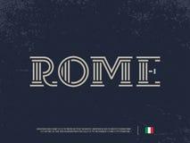 Modern professioneel vectorembleem die de doopvont van Rome van letters voorzien Stock Fotografie