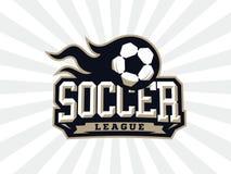 Modern professioneel voetbalembleem voor sportteam Stock Foto