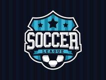Modern professioneel voetbalembleem voor sportteam Royalty-vrije Stock Afbeeldingen