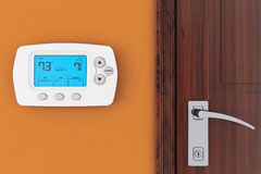 Modern Programming Thermostat Royalty Free Stock Image