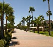 Modern promenade - Limassol, Cyprus Stock Images
