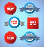 Modern promo badges and labels Royalty Free Stock Photography