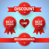 Modern promotion badges and ribbons Royalty Free Stock Image