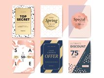 Modern promotion cell phone web banner for social media mobile a. Pps. Elegant sale and discount promo backgrounds with abstract pattern. Email ad newsletter Stock Illustration