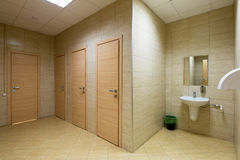 Modern public bathroom Royalty Free Stock Photography