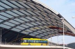 Modern public bus in Amsterdam