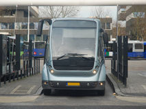 Modern public bus - busstation Eindhoven NL Stock Photo