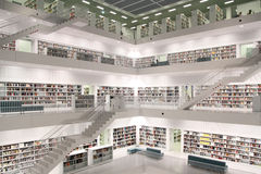 Modern public library. Interior view of a public library Royalty Free Stock Image