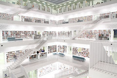 Modern public library. Interior view of a public library Royalty Free Stock Images