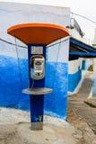 Modern public phone in Kasbah Oudaia in Rabat, Marokko Royalty Free Stock Photo