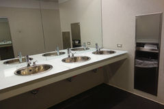 Modern Public Restroom Stock Images