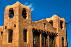 Modern Pueblo Architecture in New Mexico Stock Photography