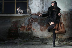 modern punk fashion royalty free stock photos