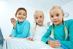 Modern pupils Royalty Free Stock Photography