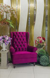 Modern purple armchair Stock Photo